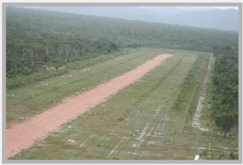 Chuulangun airstrip from the air